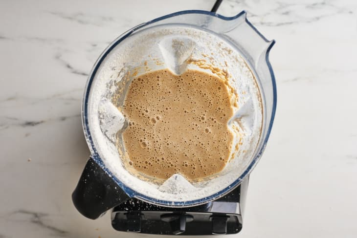 food processor with dough in it