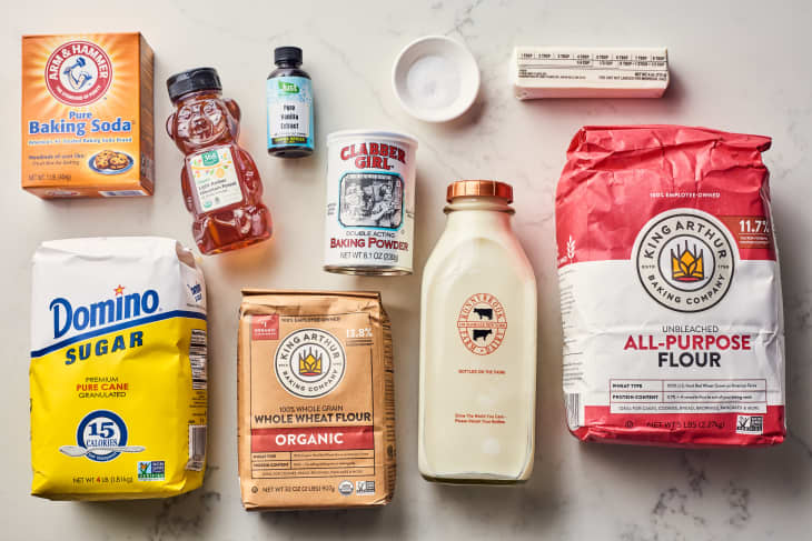 ingredients to homemade graham crackers